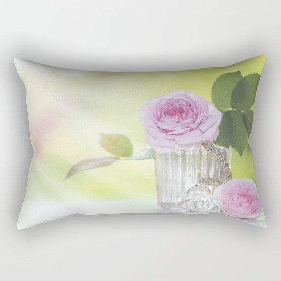 Rose love - Floral Roses Vintage Stilllife - Flowers Rectangular Pillow