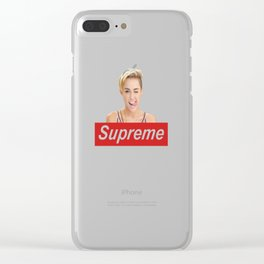 miley cyruss supreme Clear iPhone Case