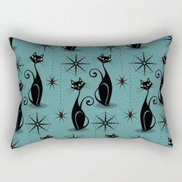 Retro Atomic Spooky Cats Rectangular Pillow
