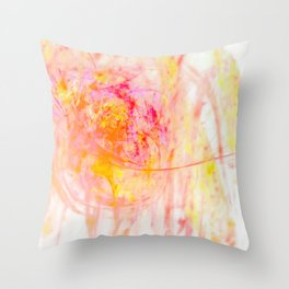 My heart fountains color Throw Pillow