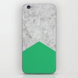 Concrete Arrow Green #175 iPhone Skin