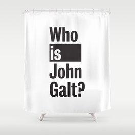 Who Is John Galt? Atlas Shrugged Ayn Rand Shower Curtain