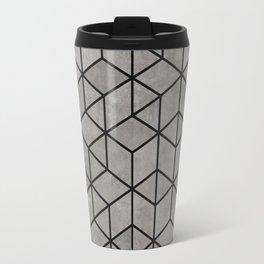 Hexagon concrete cubes Travel Mug