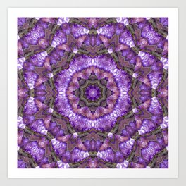 Amethyst Dream Burst Art Print