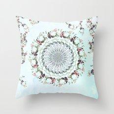 Floral fervour Throw Pillow