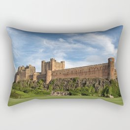 Breathtakingly Beautiful Bamburgh Castle Northumberland England Europe Ultra HD Rectangular Pillow