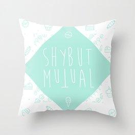 Shy But Mutual Throw Pillow