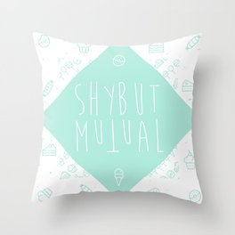Shy But Mutual Throw Pillow