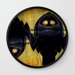 The Double Nature Of Owls Wall Clock