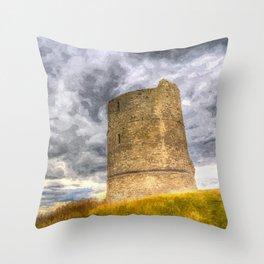 Hadleigh Castle Art Throw Pillow