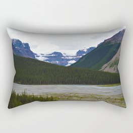 Stutfield Glacier along the Icefields Parkway  in Jasper National Park, Canada Rectangular Pillow