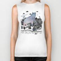 fog Biker Tanks featuring The Fog by littleclyde