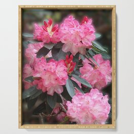 Dreamy Pink Rhododendrons Serving Tray
