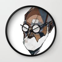freud Wall Clocks featuring Freud by PAFF