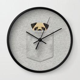 Pocket Pug Wall Clock