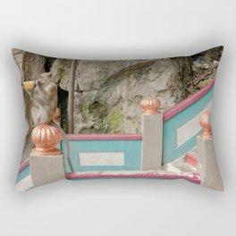 Monkey Batu Caves, Malaysia Rectangular Pillow