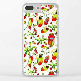 watercolor illustration Clear iPhone Case