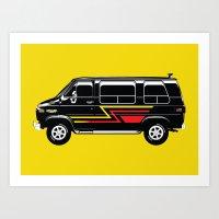 van Art Prints featuring Classic Van by Eyes Wide Awake