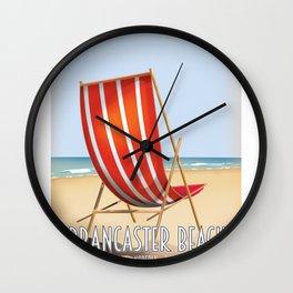 Brancaster Beach Norfolk. Wall Clock