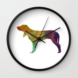 Swiss Hound in watercolor Wall Clock