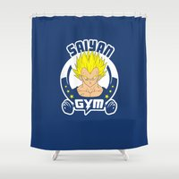 gym Shower Curtains featuring Gym V by Buby87