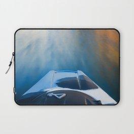 Moving Fast Kayaking on McCloud Reservoir Laptop Sleeve