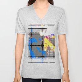 glitch abstract Unisex V-Neck