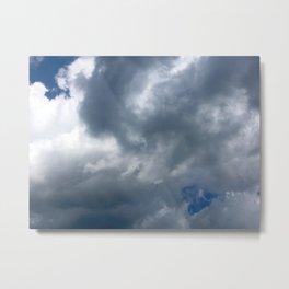 Dark Clouds Rolling In Metal Print