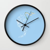 spirited away Wall Clocks featuring Spirited Away by Nicolasfl