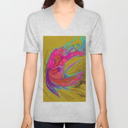 Metamorphosis with me-chartreuse Unisex V-Neck