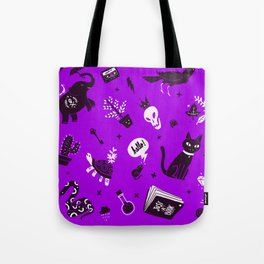 A cat, a skull and other stuff Tote Bag
