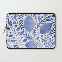 Branches and leaves - blue Laptop Sleeve
