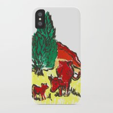 Big moo, wee moo (colored version) Slim Case iPhone X