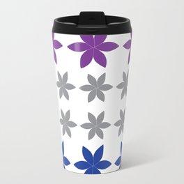 Cool Colors Flower Art Travel Mug