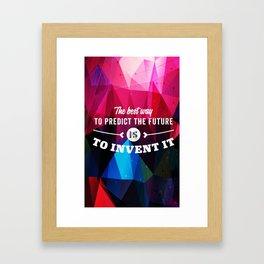 Invent Framed Art Print