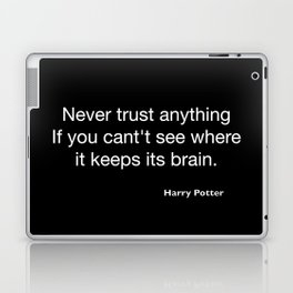 Harry P quote Laptop & iPad Skin