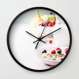 healthy breakfast Wall Clock