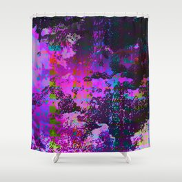 Malfunction Microchip Shower Curtain