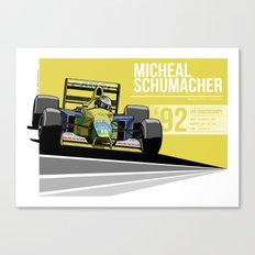 Michael Schumacher - 1992 Spa Canvas Print