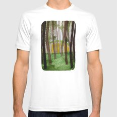 Landscapes / Nr. 5 Mens Fitted Tee White MEDIUM