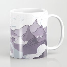 Across a Mountain Valley  Coffee Mug