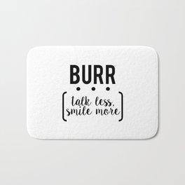 burr // white Bath Mat