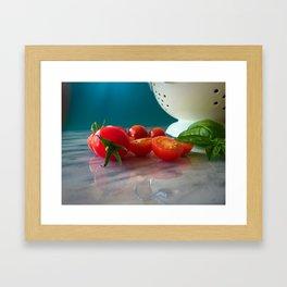 Fallen Cherry Tomatoes Framed Art Print