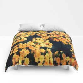 Yellow Flowers Comforters