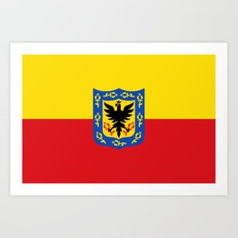 bogota city flag Art Print