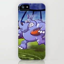 Olympic Rugby Rhinoceros iPhone Case
