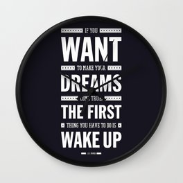 Lab No. 4 If You Want To Make J.M. Power Life Inspirational Quote Wall Clock