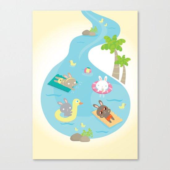 the pool Canvas Print