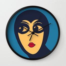 Space woman: are you looking at me? Wall Clock