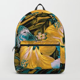 Golden Vintage Aloha Backpack